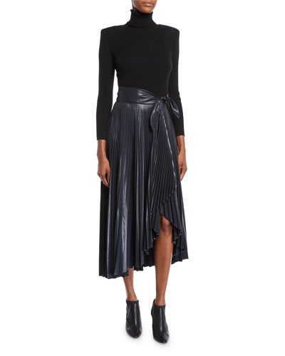 Eleanor Pleated High-Waist Midi Skirt and Matching Items