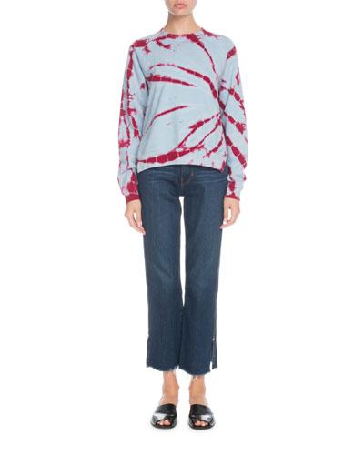 Crewneck Tie-Dye Jersey Shrunken Sweatshirt and Matching Items