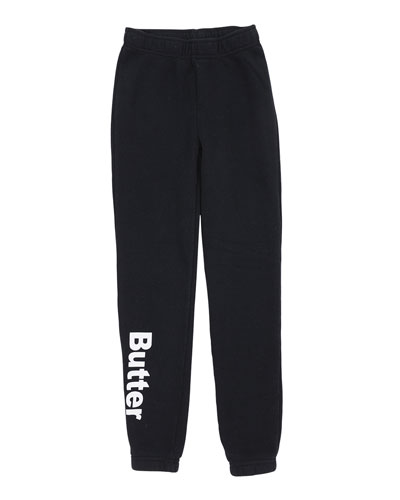 Solid Fleece Varsity Logo Sweatpants, Size S-XL  and Matching Items