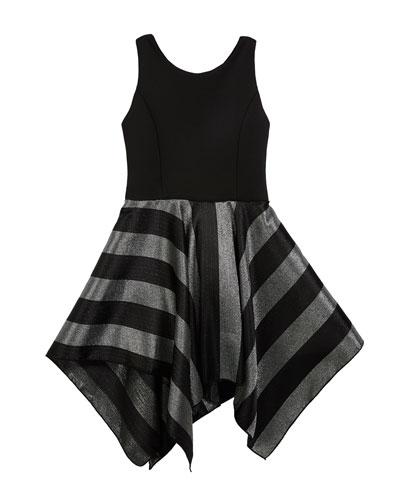 Presley Knit Dress w/ Metallic Stripe Skirt, Size 4-6X and Matching Items