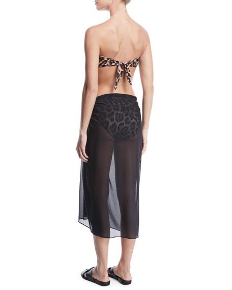 Cutout Leopard Bandeau Bikini Top