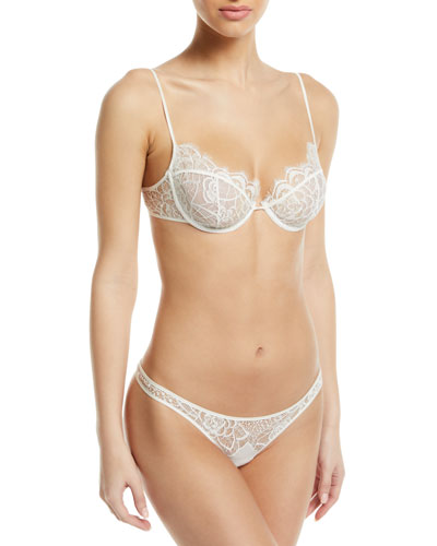 Coquette Sheer Lace Demi Bra and Matching Items