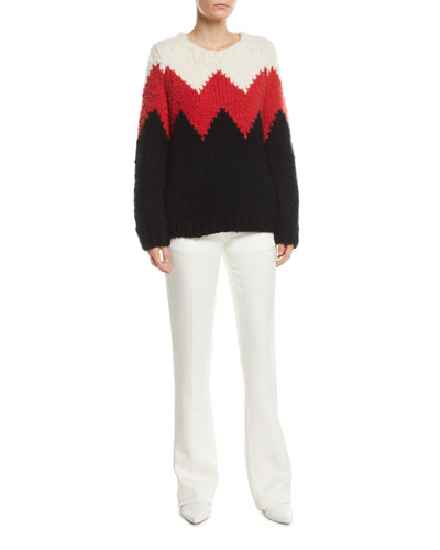 Crewneck Zigzag Cashmere Fluff Sweater and Matching Items