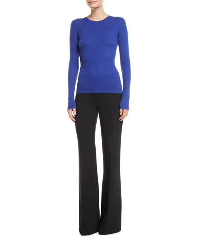 Crewneck Long-Sleeve Featherweight Cashmere Sweater and Matching Items