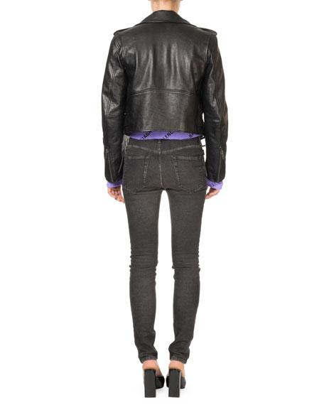 Bull-Leather Biker Jacket