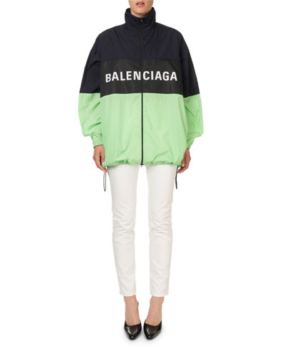 Colorblocked Zip-Front Logo Jacket and Matching Items