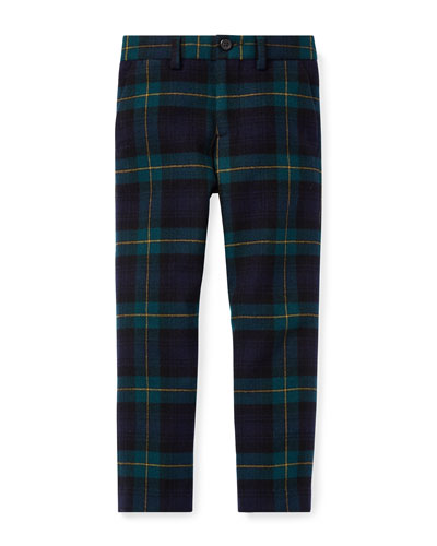 Newport Tartan Plaid Wool Pants, Size 2-4