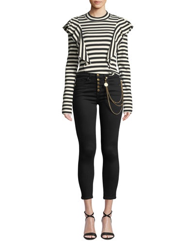 Dawson Striped Ruffle Long-Sleeve Tee and Matching Items