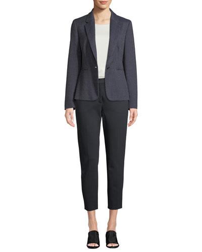 Mosella Single-Breasted Wool-Silk Blazer and Matching Items