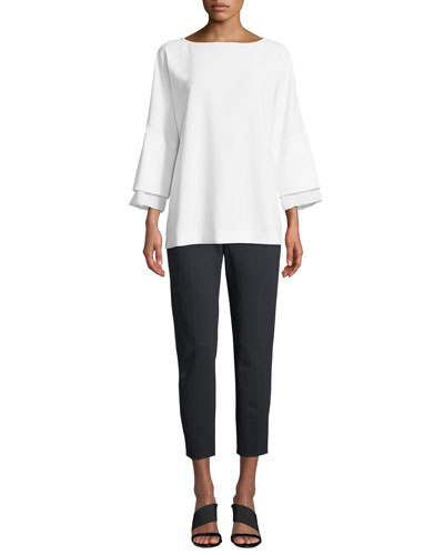 Elgar Crepe 3/4-Sleeve Blouse and Matching Items