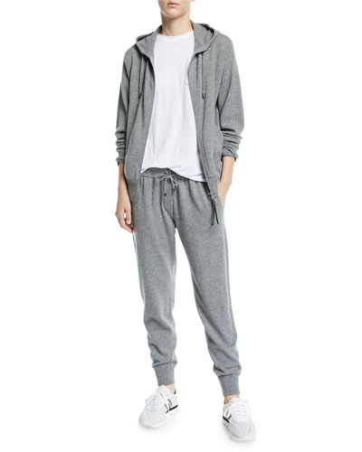Cashmere Zip-Front Hoodie and Matching Items