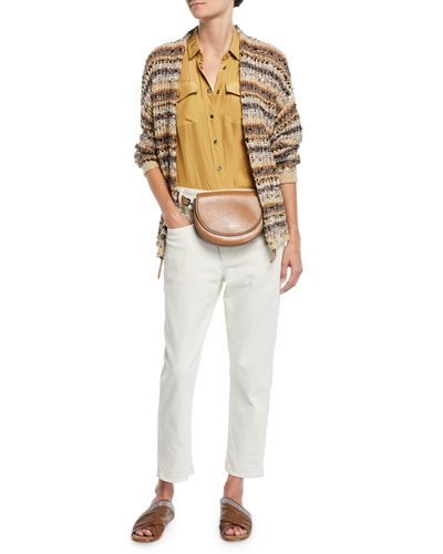 Sequined Striped Cotton-Net Cardigan and Matching Items