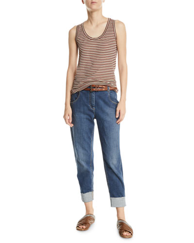 Shimmer-Striped Scoop-Neck Tank and Matching Items