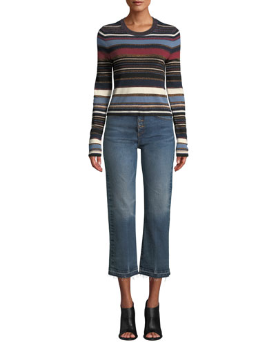 Palmas Striped Metallic Cropped Sweater and Matching Items