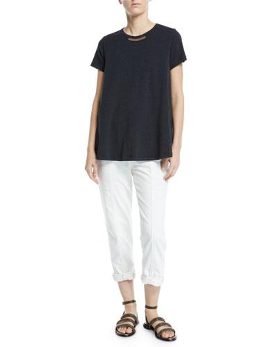 Monili-Front Crewnweck Short-Sleeve T-Shirt and Matching Items