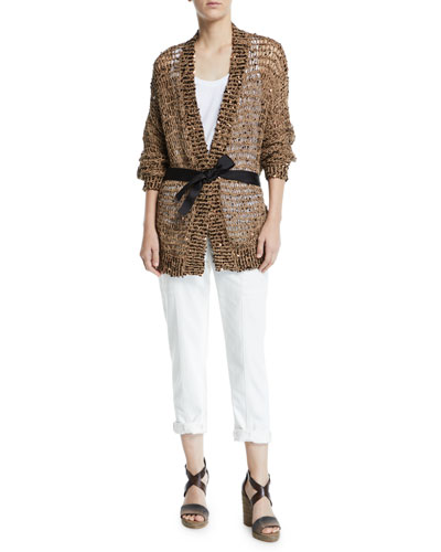 Sequined Netted Wrap Cardigan and Matching Items