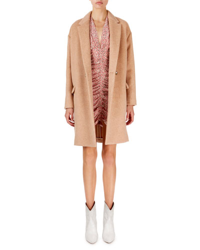 Filipo Long Two-Button Wool-Cashmere Coat and Matching Items