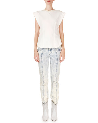 Lorricka Acid-Washed High-Waist Skinny Jeans and Matching Items