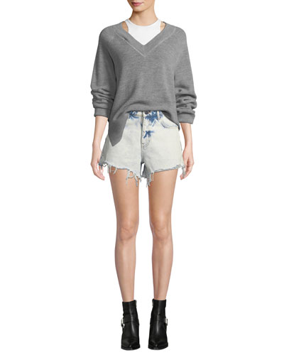 Long-Sleeve Wool Raglan Sweater with Tank and Matching Items