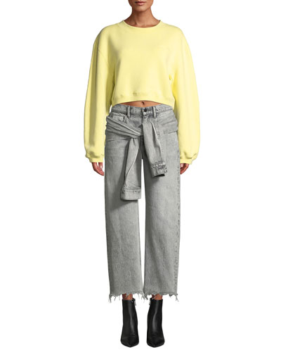 Heavy French Terry Cropped P and Matching Items