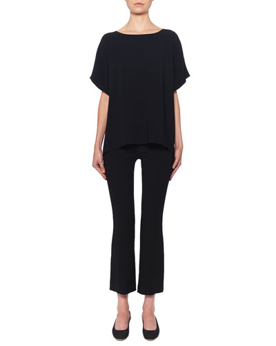 Beca Cropped Wool-Blend Boot-Cut Pants and Matching Items