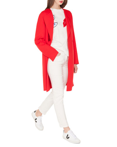 Double-Face Cashmere Clean-Line Coat and Matching Items