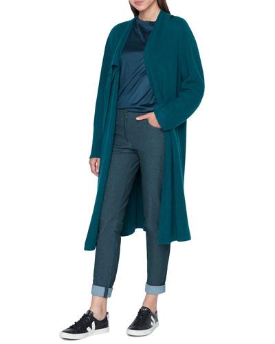 Silk Jersey  Cap-Sleeve Crewneck Tee and Matching Items