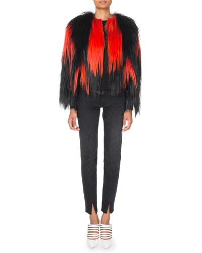 Shaggy Two-Tone Faux-Fur jacket and Matching Items