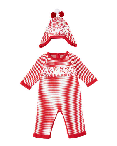 Reindeer Knit Coverall, Size 3-18 Months  and Matching Items