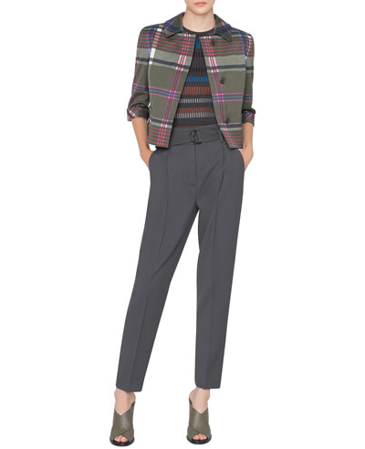 Signature Back-Pleat Plaid Jacket and Matching Items
