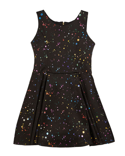 Foil Splatter Knit Swing Dress  Size 7-16  and Matching Items