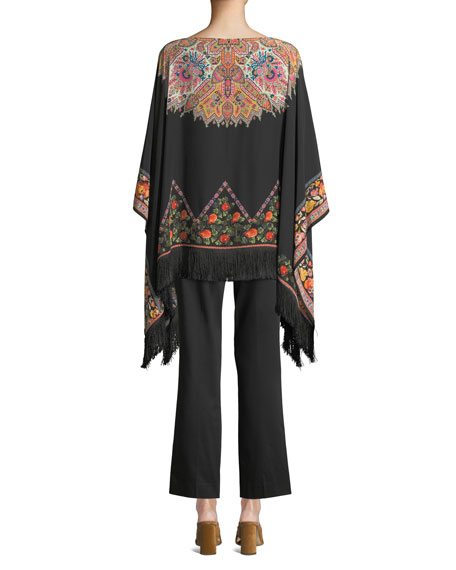 f5c26cda8637bc Etro Rocking Bloom Floral Silk Poncho and Matching Items