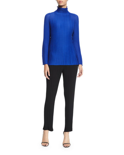 Long-Sleeve Pleated Turtleneck Top  and Matching Items