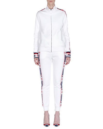Fendi Mania Zip-Front Track Jacket and Matching Items