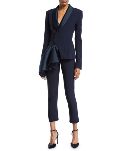 Ruffle-Side Open Front Blazer and Matching Items