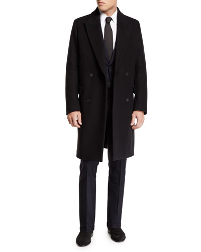 Men's Mickey Double-Breasted Wool Overcoat and Matching Items