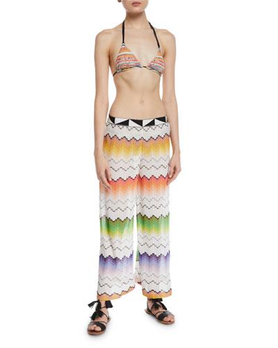 Striped Two-Piece Triangle Bikini Set