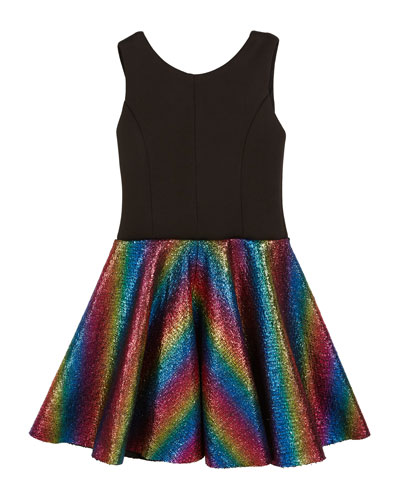 Sleeveless Dress with Foil Rainbow Skirt  4-6X and Matching Items