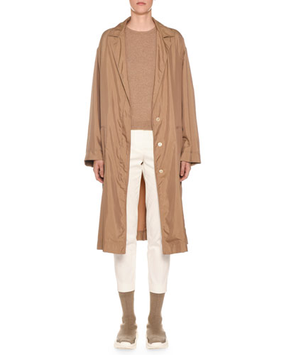 Belted Tech-Cloth Utility Trench Coat and Matching Items