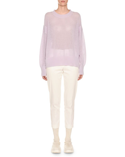 Crewneck Cashmere Mesh Sweater and Matching Items