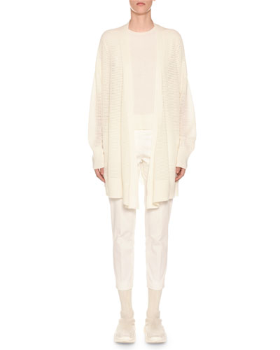1/2-Sleeve Cashmere Sweater, Off White and Matching Items