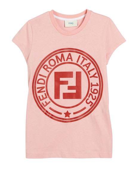 FF Logo Short-Sleeve Tee, Size 10-14