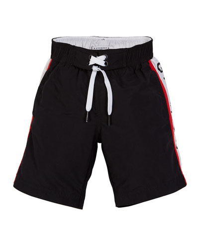 Logo-Sides Swim Trunks, Size 12-14 and Matching Items