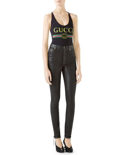 Gucci-Print Sparkling Lycra® Bodysuit and Matching Items