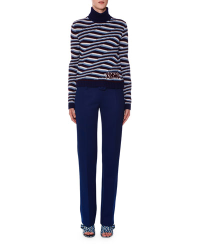 Striped-Cashmere Turtleneck Sweater and Matching Items