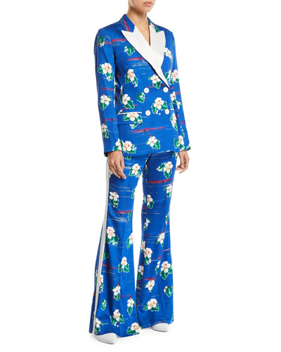 Winston Hawaii Flower-Print Tux Jacket and Matching Items