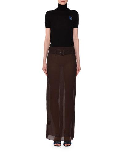 Belted Chiffon Maxi Skirt and Matching Items