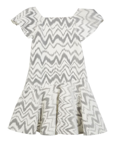 Kenzie Flocked Knit Zigzag Dress