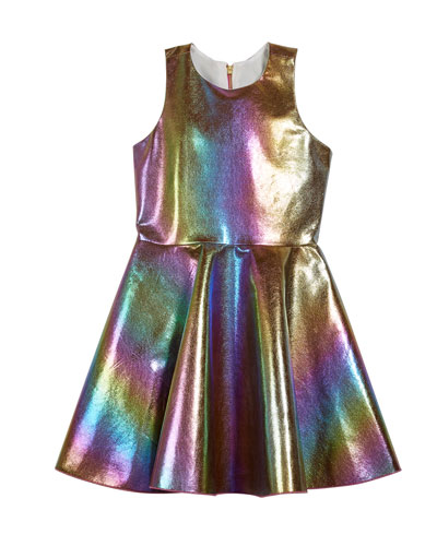 Josie Iridescent Rainbow Foil Dress