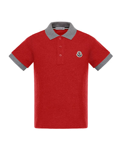 Two-Tone Short-Sleeve Polo Shirt, Size 4-6  and Matching Items